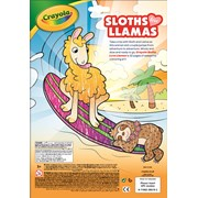 Crayola Sloths Love Llamas 32 Page Colouring Book (04-0570-E)