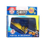 swat mission 8 Shot Die Cast Gun With Silencer (1370034)