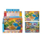 wood works Dino & Vehicles Puzzle (1374119)