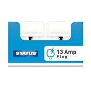 Status 13 Amp White Plug (13APLUGBULK16)