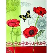 Benaya Tiles Poppy Framed 11x14 (1431212)