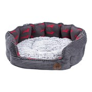 Petface Dog Deli Oval Bed Grey Bamboo Large (15173)