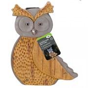Smart Garden Wood Stone In-lit Owl (1020917)