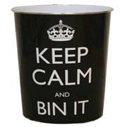 Jvl Keep Calm Waste Bin (16-117)