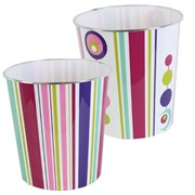 Jvl Retro Spots & Stripes Waste Bin (16-292)
