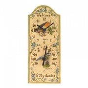 "Smart Garden Robin Wall Clock & Thermometer 12"" (5064002)"