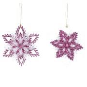 Gisela Graham Mauve & Silver Snowflake Dec (16506)