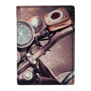 Kalmin Printed Compact Wallet Motorbike (197 4 MOTORBIKE)