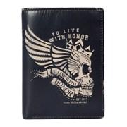 Kalmin Printed Compact Wallet Skull (197 4 SKULL)