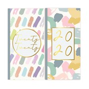 Slim Cased Diary Pastel Patterns (20SD05)