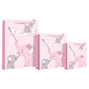 Baby Girl Elephant Gift Bag Medium (22557-3)