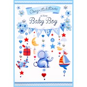 Simon Elvin Baby Boy Cards (24000)