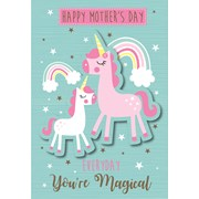 Mothers Day Card Unicorn Poppet (24375-C)