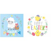 Cute Easter Cards In Acetate Pack 10pack (24474-C)
