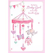 Simon Elvin Baby Girl Cards (25101)