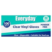 Everyday Clear Vinyl Gloves Medium 100s (10363)