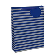 Blue/silver Rainbow Gift Bag Medium (26655-3)