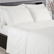 300tc Fitted Sheet White Single (SHE05512WH)
