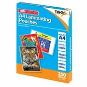 Tiger Laminator A4 Pouches 250m 100s (301827)