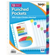 Tiger Punched Pocket 12 Part Dividers (302033)