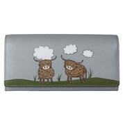 Bella Highland Cow Matinee Purse Grey (3491-33 GREY)