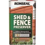 Ronseal Shed&fence Preserver L'brown 5lt (37649)