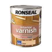 Ronseal Quick Drying Clear Interior Varnish Satin 750ml (36871)