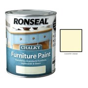 Ronseal Chalky Furniture Paint Country Cream 750ml (37483)