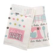 3pk Velour Tea Towels Lets Bake (KTS149139)