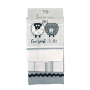 3pk Embroidered Kitchen Towels Ewe & Me (KTS177323)