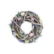 Gisela Graham Wreath With Pastel Flowers/eggs (40049)
