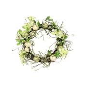 Gisela Graham Green/cream Egg/twig Wreath 35cm (40162)