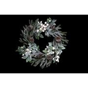 Gisela Graham Green Fir Leaf Wreath With Berries (40332)