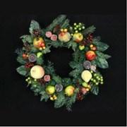 Gisela Graham Fir Wreath With Fruit & Berries (40607)
