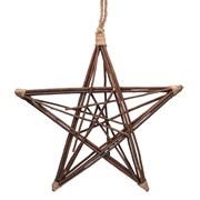 Gisela Graham Natural Twig Frame Star Wreath Large (40881)