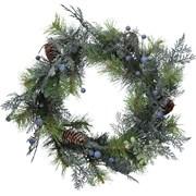 Gisela Graham Fir Leaf Wreath  Blueberries (40888)