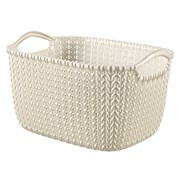 Curver Knit Rectangular Basket Oasis White 8ltr (229318)
