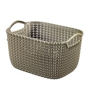Curver Knit Rectangular Basket Harvest Brown 8ltr (229315)
