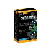 Cole & Bright Dual Powered 50 Led String Lights Warm White (L24101D)