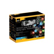 Cole & Bright Dual Powered 50 Xl String Lights Multi Coloured (L24202D)