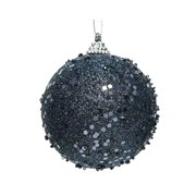 Bauble  Glitter  Night Blue 8cm (457647)