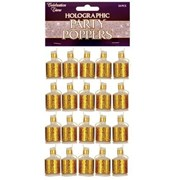 Henbrandt Gold Holographic Party Poppers 20s (X39036)