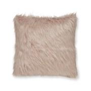 Catherine Lansfield Metallic Fur Cushion Blush 45cm