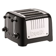 Dualit Lite 4 Slice Black Toaster (46205)