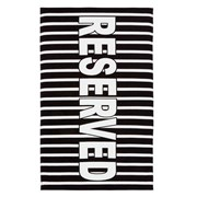 Catherine Lansfield Reserved Beach Towel