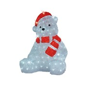 Led Acrylic Bear Outdoor Cool White 40cm (499427)