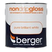 Berger Non Drip Gloss Brilliant White 750ml (5089064)