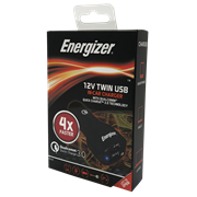 Energizer 12v Twin Fast Charger Usb In Car Charger (50526)