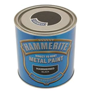 Hammerite Hammered Paint Black 250ml (5084792)