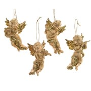 Angel w Hanger Gold 10cm (517704)